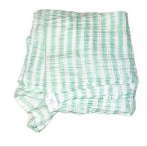 Cloud Island Team Green Muslin Swaddle Blanket